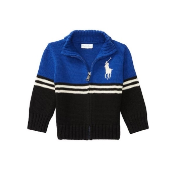 폴로 랄프로렌 베이비 코튼 풀 집 스웨터 $65 → $27.30